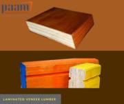 Seasoned,  waterproof and non adherent laminated veneer lumber